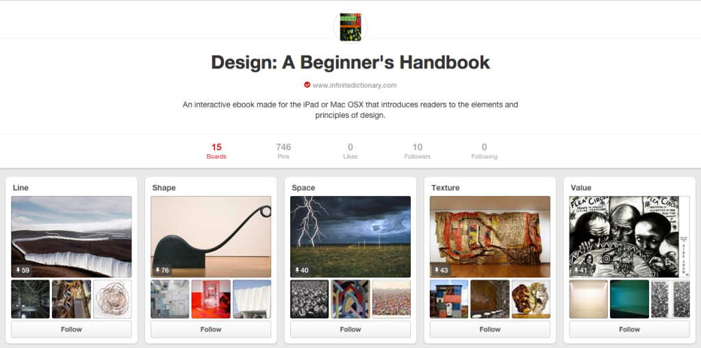 Pinterest design boards