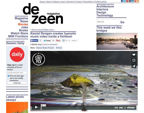 front page of dezeen