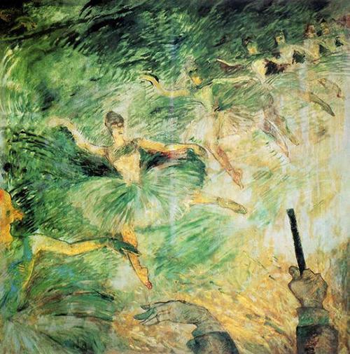 oil painting by Henri de Toulouse-Lautrec
