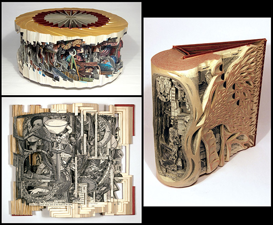 Brian Dettmer altered books