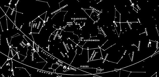 NASA image of constellations