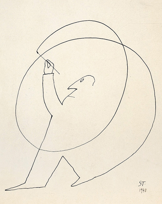 Line drawing by Saul Steinberg
