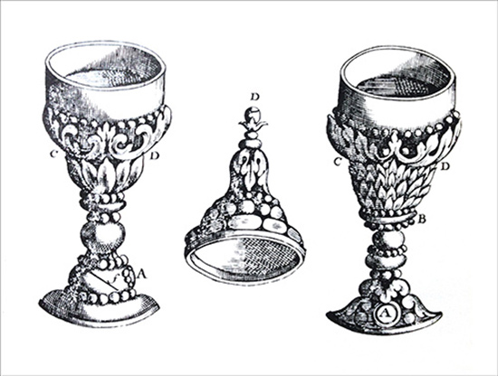 drawing of a goblet camera obscure