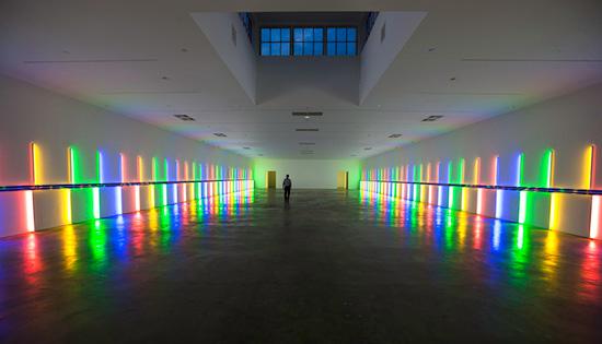 Dan Flavin light installation