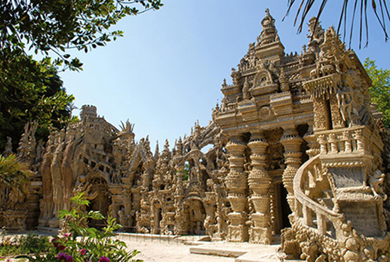 East facade of the Ideal Palace of the Postman Cheval.