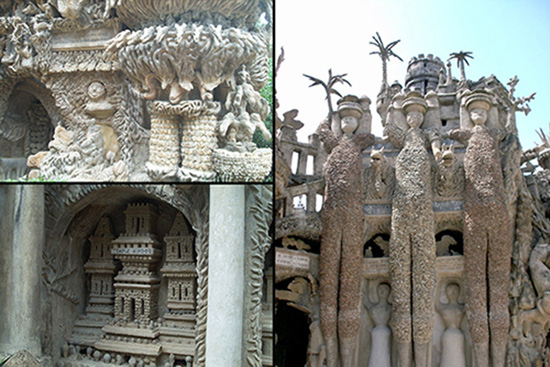 detail images of the Ideal Palace of the Postman Cheval