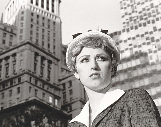 Cindy Sherman black and white photograph