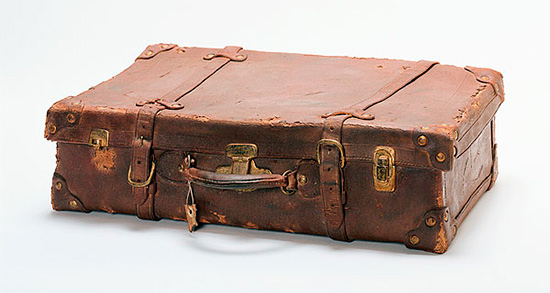 Ceramic suitcase by Marilyn Levine