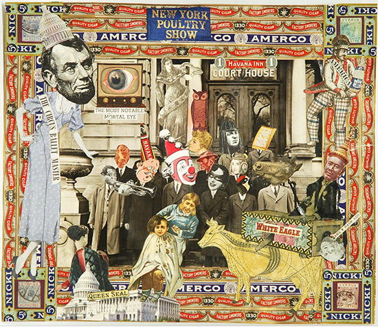 "Collage, ""The Circus Ballet Master,"" by Felipe Jesus Consalvos"