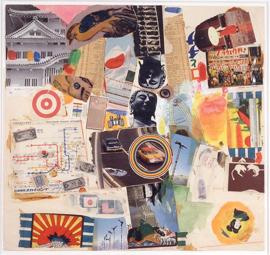 """Collage, """"Tokyo,"""" Robert Rauschenberg"""