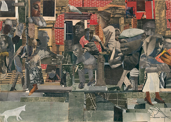 """The Dove,"" a collage by Romare Bearden"