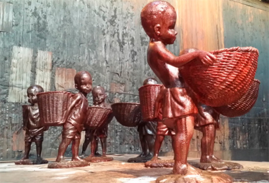 "detail Kara Walker's monumental sculptural installation ""A Subtlety: The Marvelous Sugar Baby"""