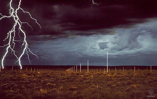 Lightning Field, an earthwork by Walter de Maria.