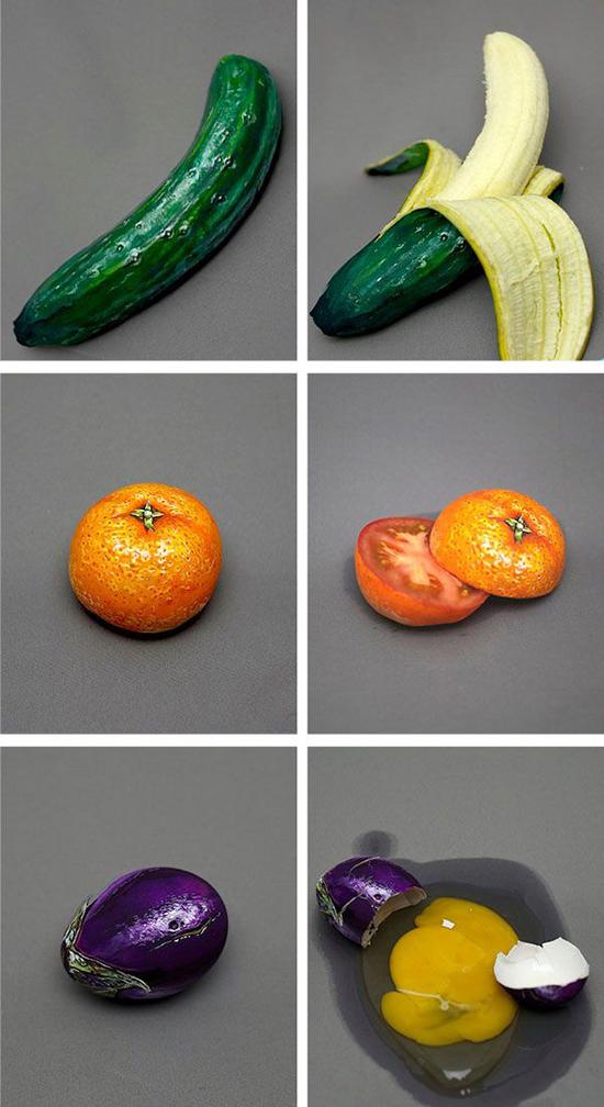 trompe l'oeil art by Hikaru Cho