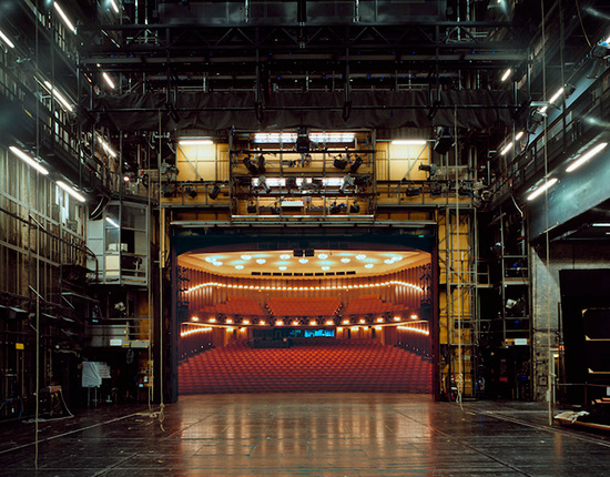 Photograph by Klaus Frahm of theatre spaces