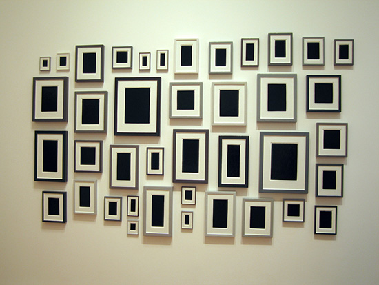 Allan McCollum installation, Surrogate Paintings