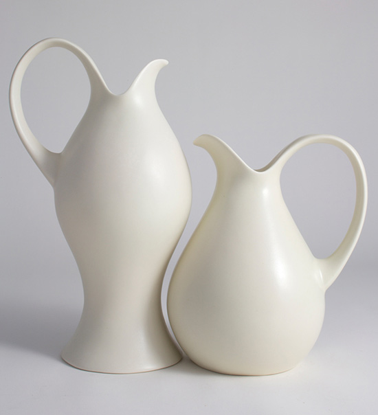 Ceramic pitchers by Eva Zeisel