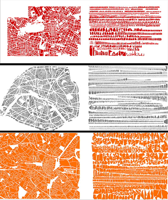 Artist's maps by Armelle Caron