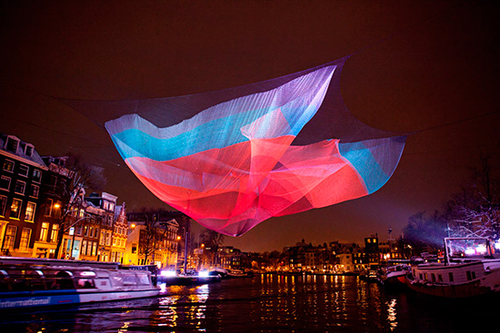 Sculpture by Janet Echelman in Amstel