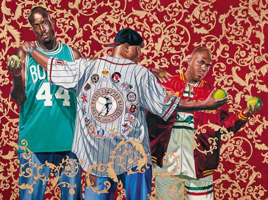 Kehinde Wiley painting