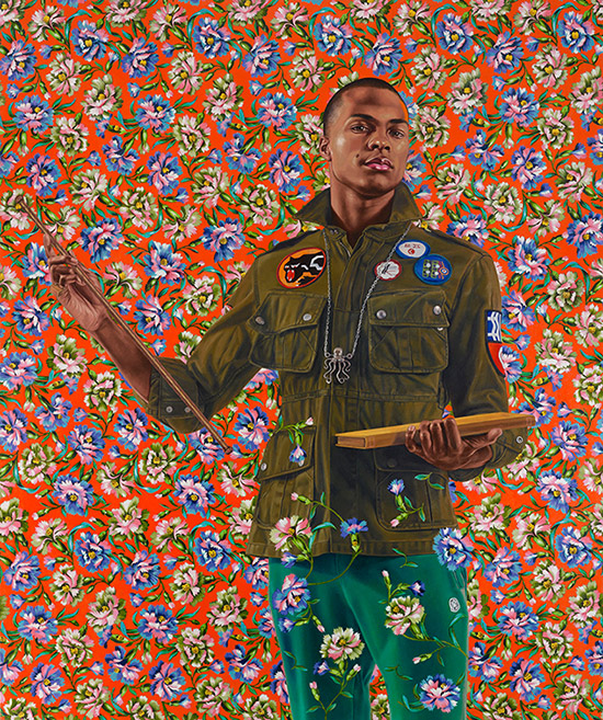 Portrait painting by Kehinde Wiley