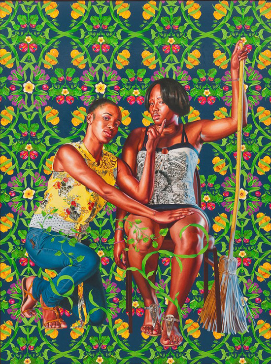 Kehinde Wiley portrait painting