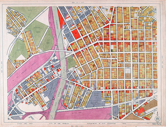 WPA map of land use in Los Angeles