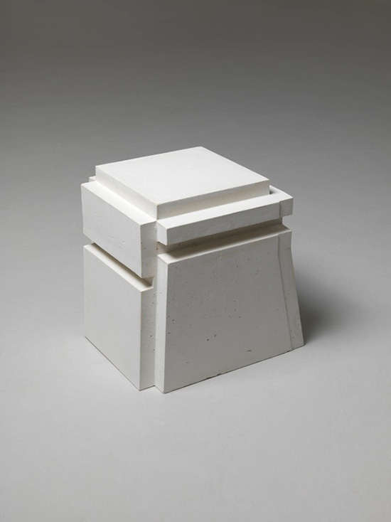Sculpture cast of the negative space around a chair by Rachel Whiteread