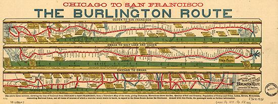19th century railroad map