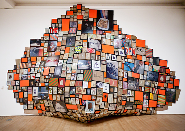 Multi-media wall installation by artist  Barry McGee