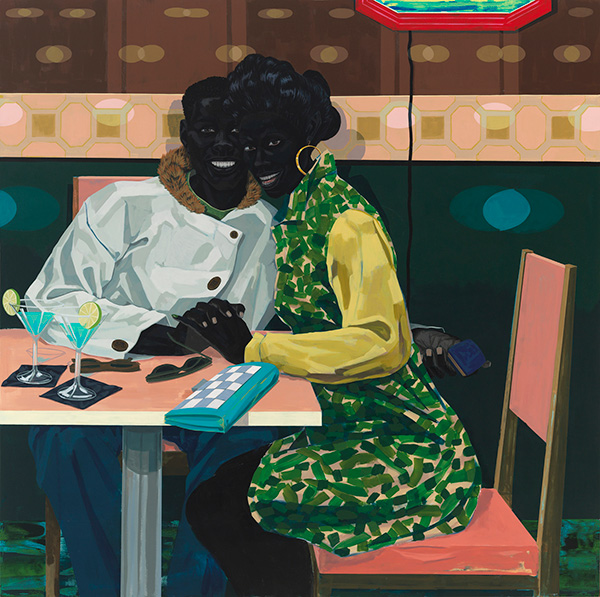 """""""Club Couple,"""" a painting by Kerry James Marshall"""