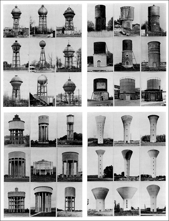Photographic typologies by Bernd and Hilla Becher