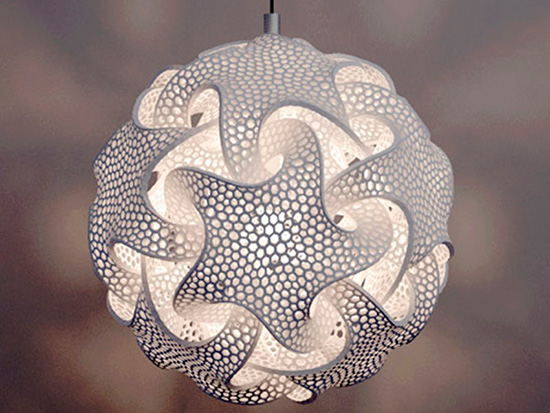 light fixture produced by laser sintering