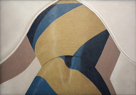 Painting of a necktie knot by Domino Gnoli