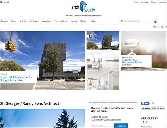 """Design resource """"ArchDaily"""""""