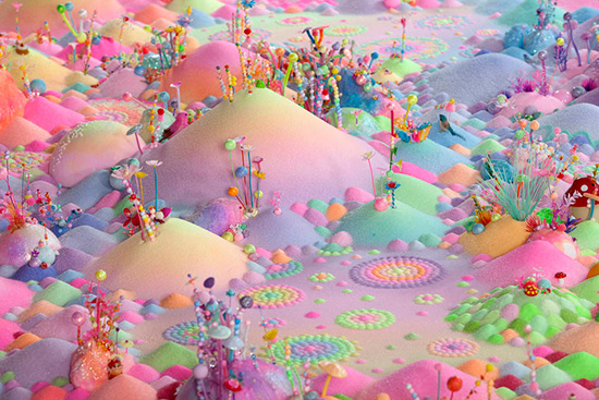 """Seeing Forever,"" an art installation made from sugar and candy by Pip & Pop"