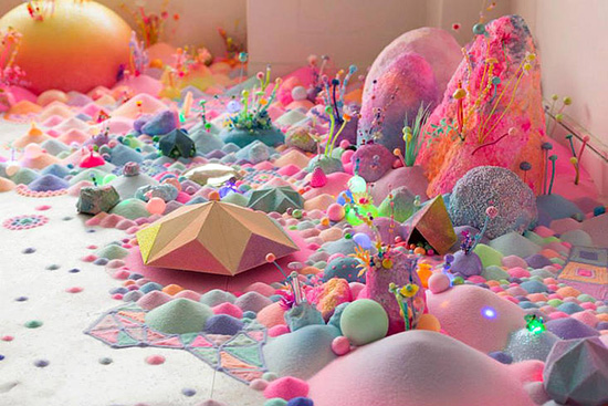 An art installation made from sugar and candy by Pip & Pop