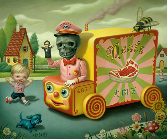 """The Meat Magi,"" an oil painting by Mark Ryden"