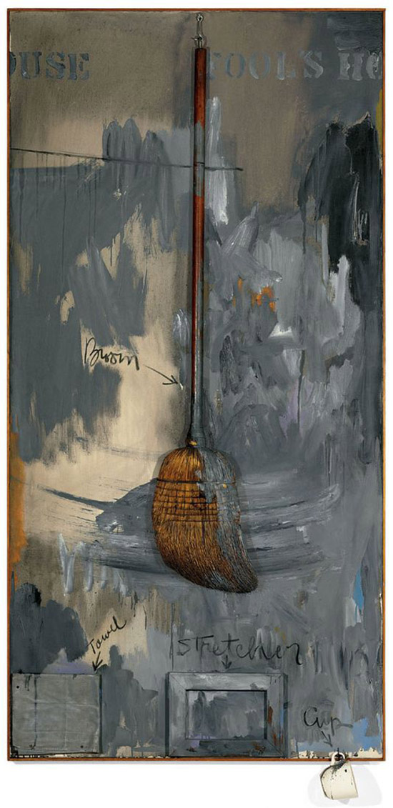 "Mixed media painting by Jasper Johns ""Fools House"""