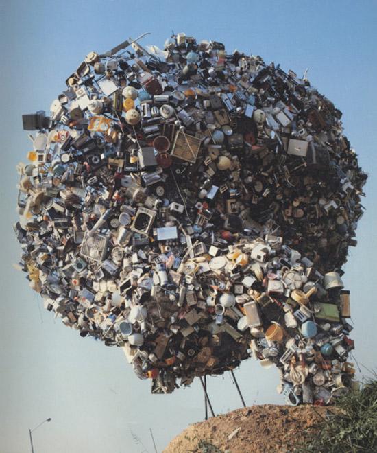 "Artist Nancy Rubins' sculpture ""World's Apart"""