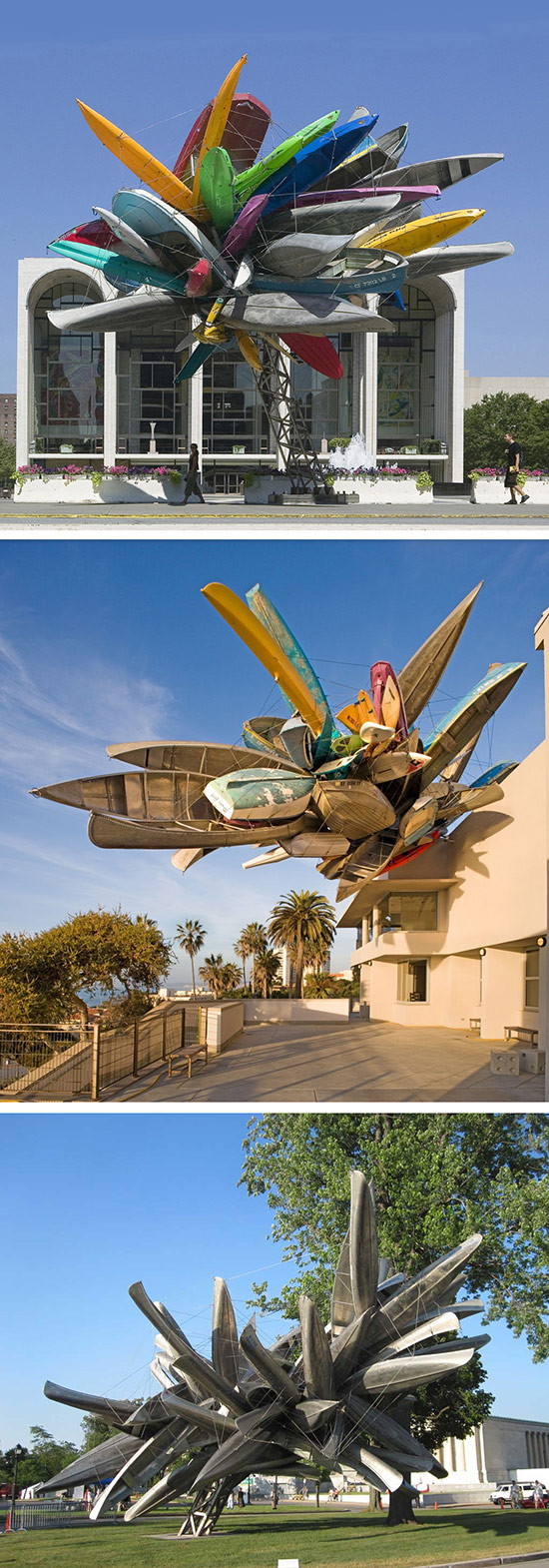 Artist Nancy Rubins, sculptures made from boats