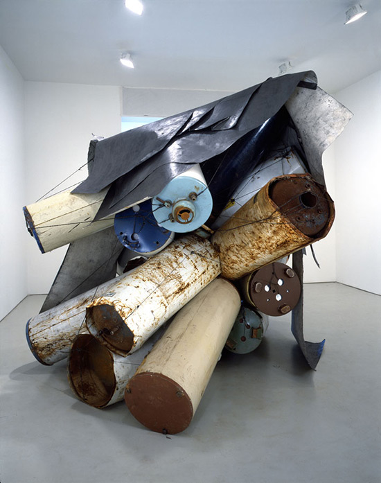 Artist Nancy Rubins, sculpture made from old hot water heaters