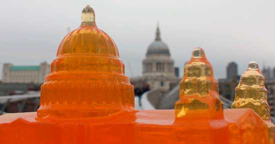 Buildings made from jelly (jello) by artists Bompas and Parr