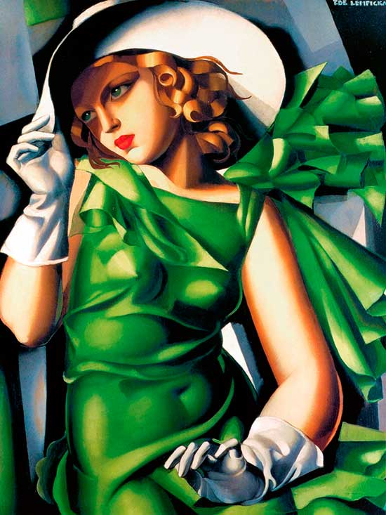 Portrait painting by Tamara de Lempicka