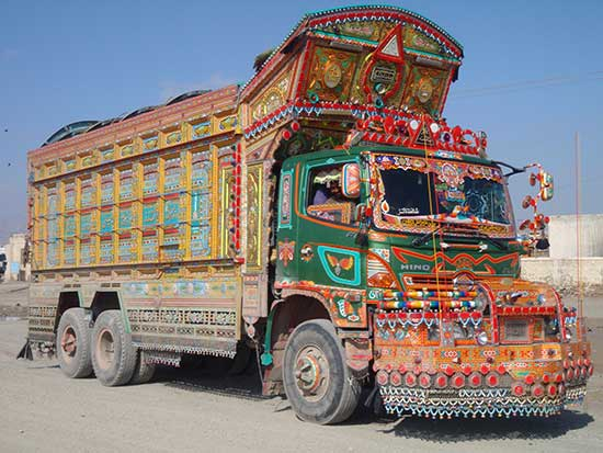 elaborately decorated truck