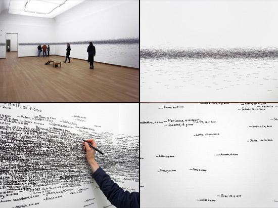 Participatory art installation by Roman Ondak