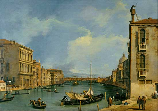 Oil painting of the Grand Canal by Canaletto