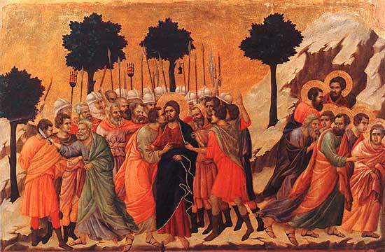 "Oil painting ""Christ Taken Prisoner"" by Cimabue"