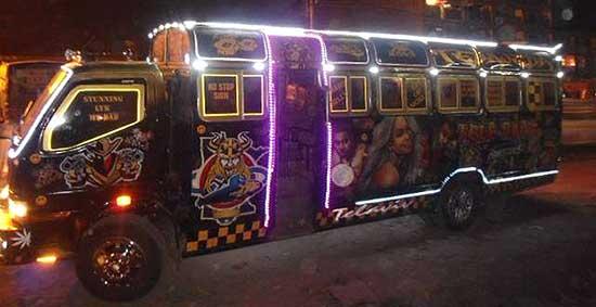 Kenyan decorated minibus