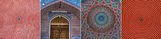 details of the patterning of the Shah Jehan Mosque